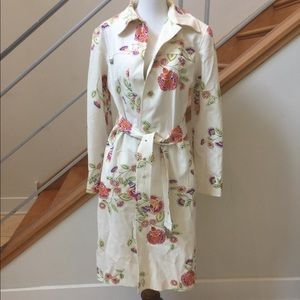 Spring floral trench